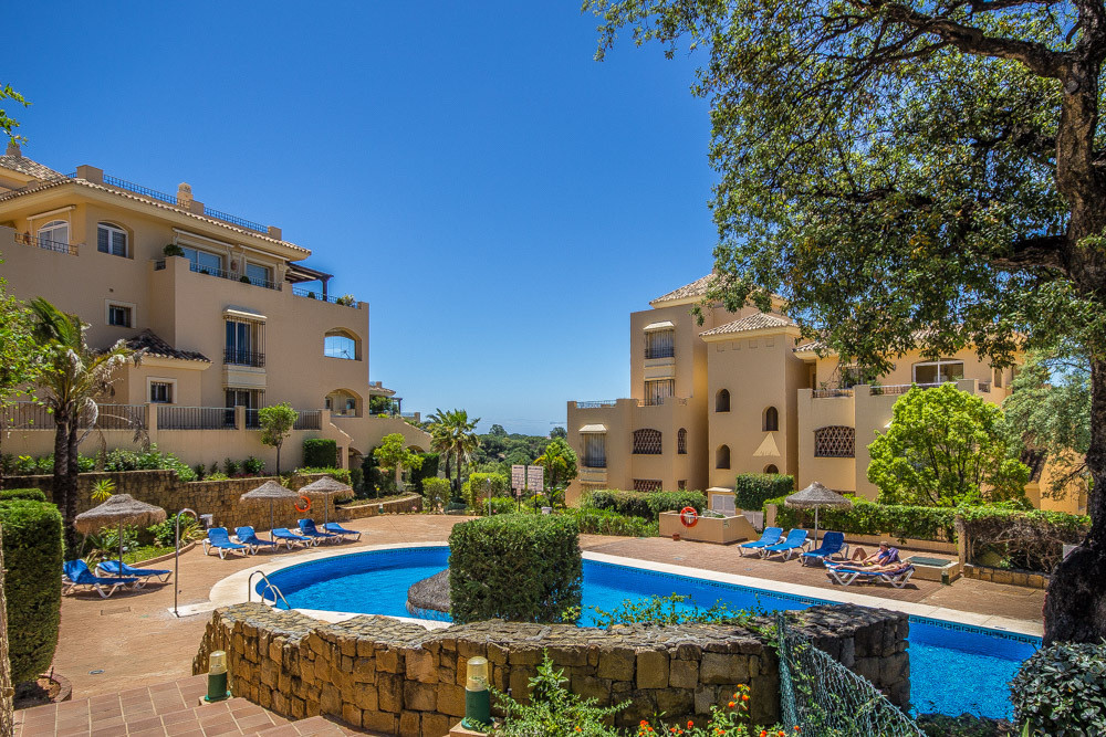 Ample 3 bedroom apartment in the sought after Hacienda Elviria offering three bedrooms with three ba,Spain