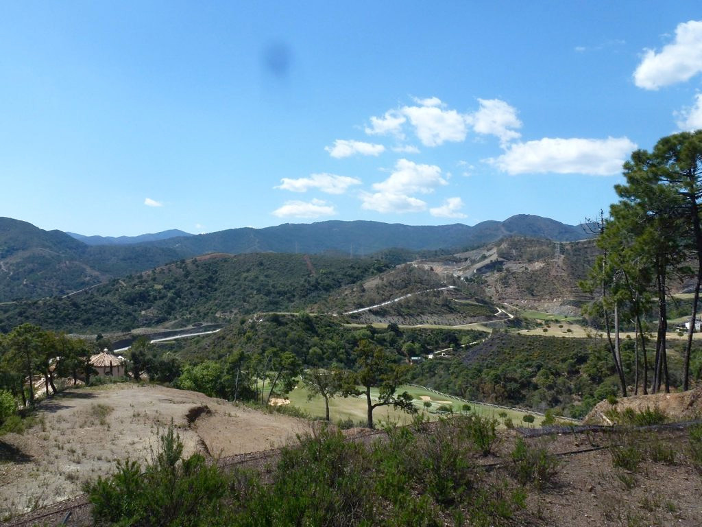 Spacious plot with ecological wall in place.  Ready for construction of house.  Faces west over the ,Spain