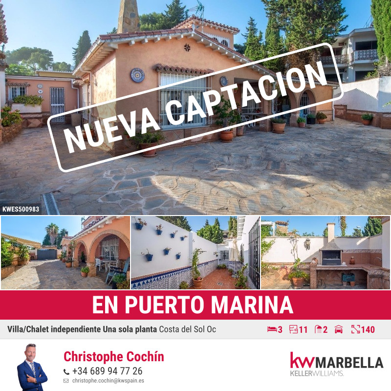 Detached Villa, Benalmadena Costa, Costa del Sol. 3 Bedrooms, 2 Bathrooms, Built 140 m², Terrace 200,Spain