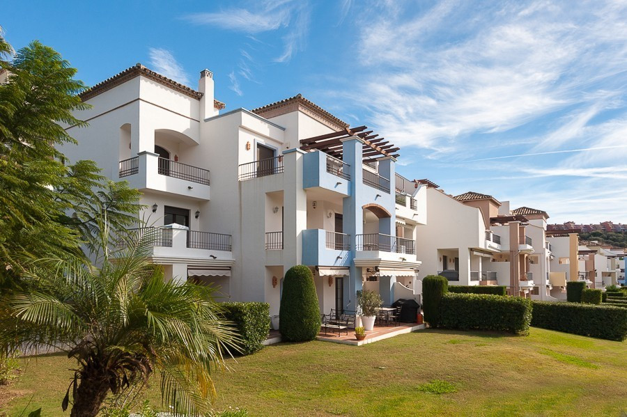 Frontline Golf 3 bedroom garden apartment at only 255.000 €. Beautifully maintained and with West fa,Spain