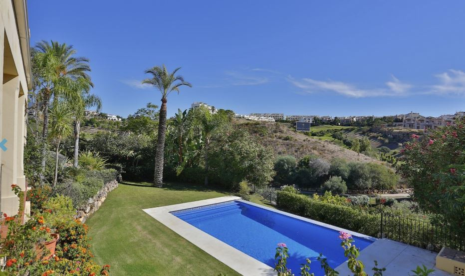 This lovely villa is situated frontline golf overlooking a nine hole golf course and a lake in the m,Spain