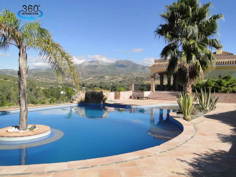 Beautiful new country villa with magnificent views to the mountains and valley.   The modern propert, Spain