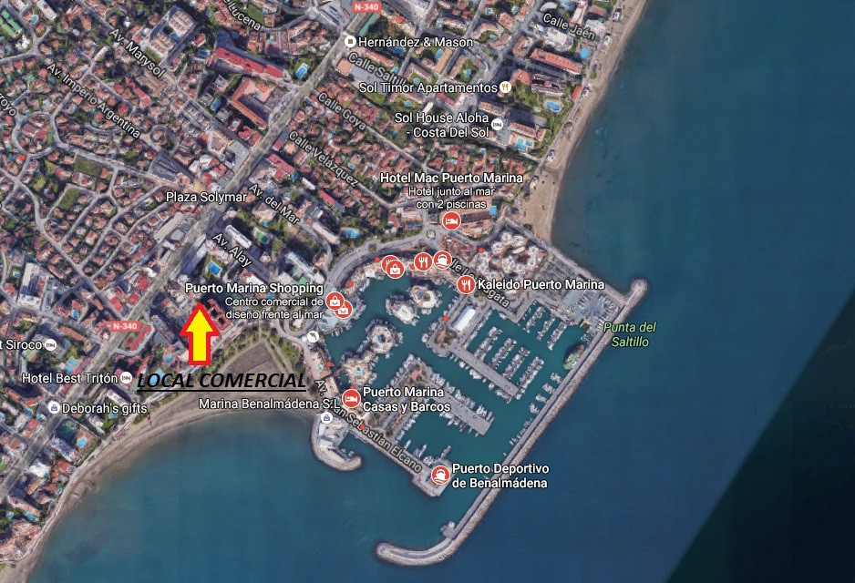SPACIOUS LOCATION ON A STEP OF PUERTO MARINA !!! 1 MINUTES FROM THE BEACH !!! Surface area 489 m2. E, Spain