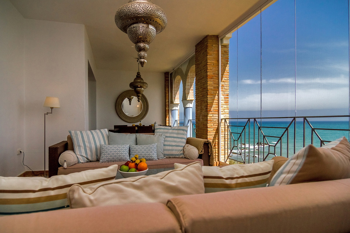 LUXURY FRONT LINE BEACH PENTHOUSE APARTMENT WITH 4 BEDROOMS. Situated in the UNIQUE beach of CASARES,Spain