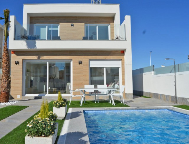 Modern semidetached properties located in San Pedro del Pinatar, surrounded by two seas, the Mediter, Spain