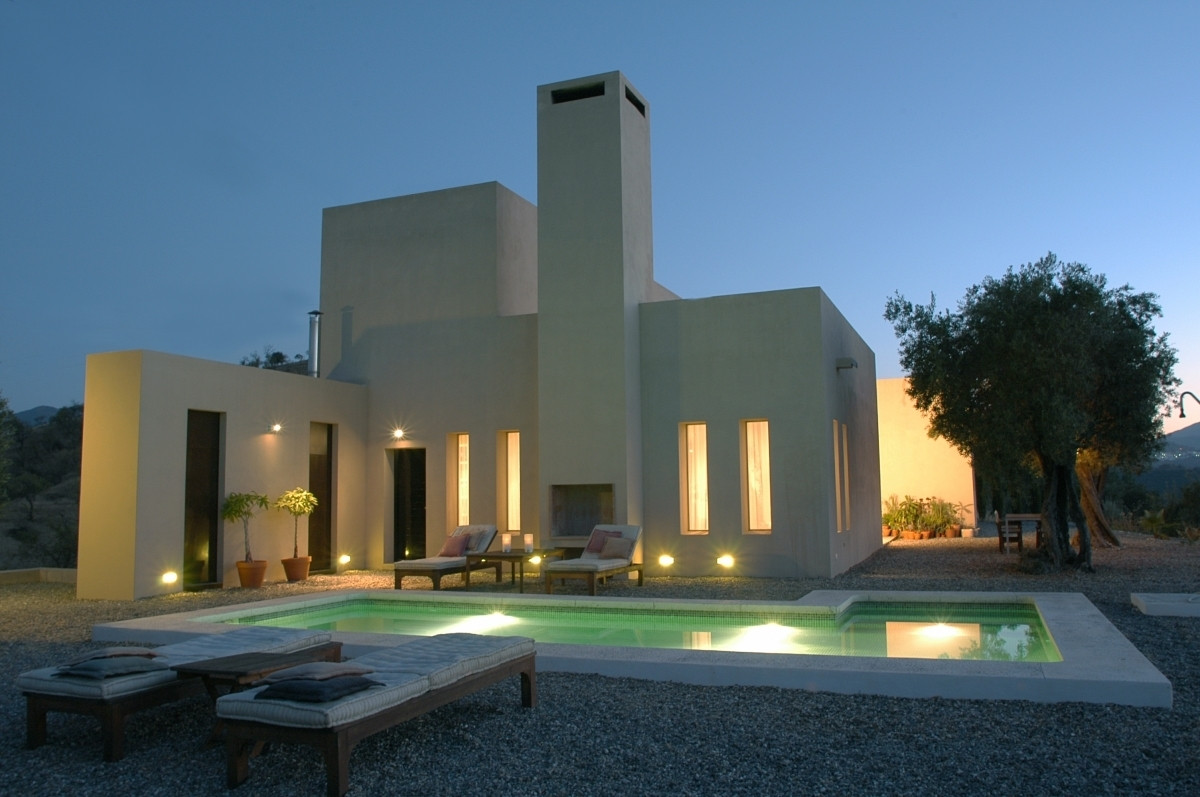 This is a unique modern designed villa – with superb panoramic views and sunrises/sunsets across the,Spain