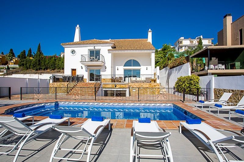 An absolutely stunning and unique 6 bedroom contemporary villa located in Mijas Costa with easy acce,Spain