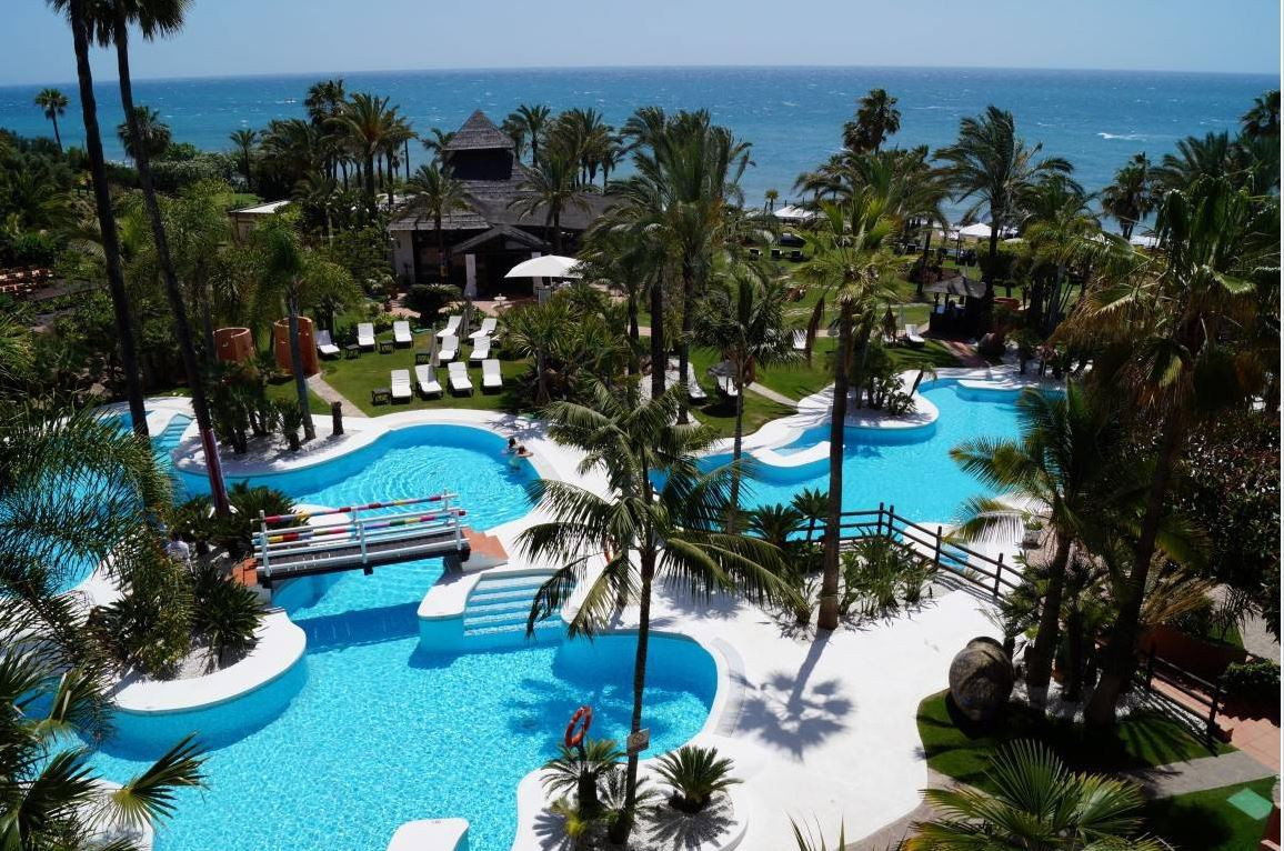 This studio is located between Marbella and Estepona in the lavish Kempinski Hotel Bahia which is a , Spain