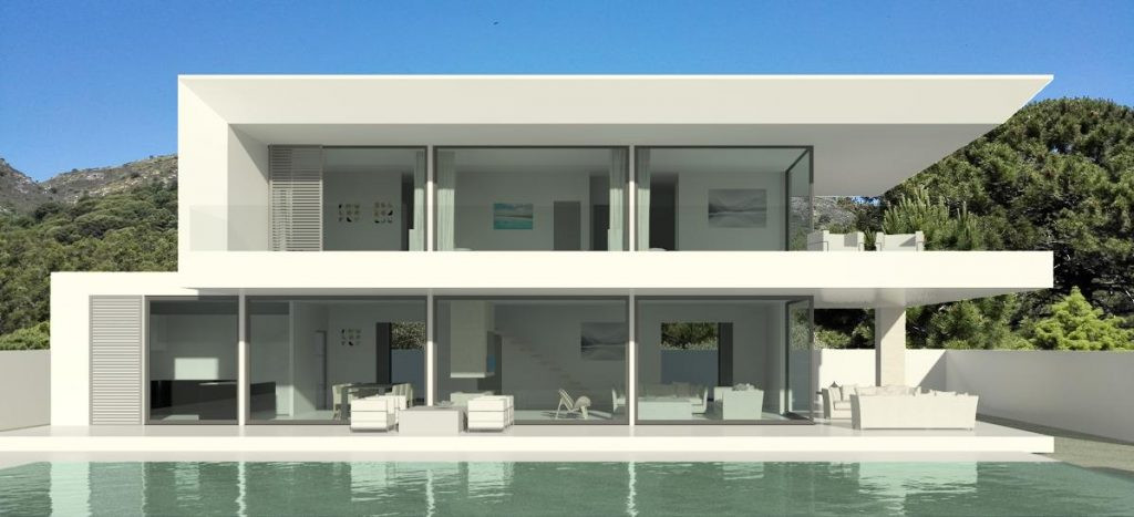 Off-Plan - Luxury Villa in Elviria with sea views and consisting out of 3 bedrooms, 2 bathrooms, gue, Spain
