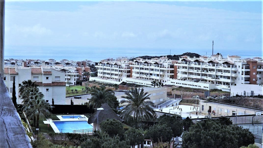 This modern bright 2 bedroom apartment offers panoramic ocean and mountain views and is situated on , Spain