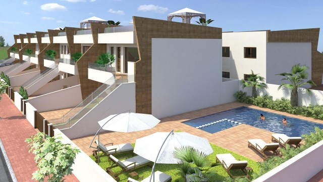 Brand new modern style apartments with communal pool and gardens located close to the Mar Menor beac, Spain