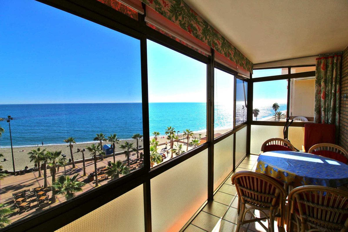 Breathtaking views from the 12m2 glassed terrace of this frontline apartment. Wooden flooring. Lift.,Spain