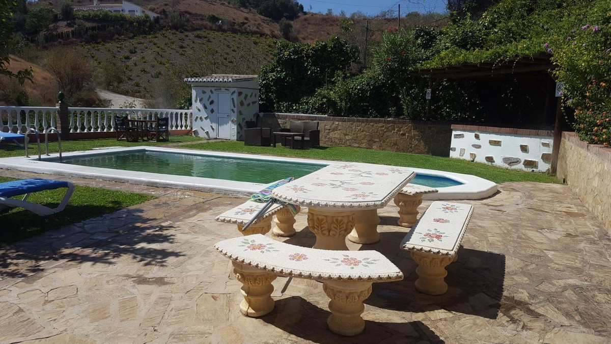 Wonderful detached Villa with 4,800m of land in La Vinuela with wonderful mountain views. It is sold, Spain