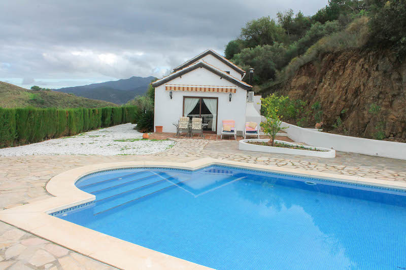 Idyllic 3 bedroom country house with super size swimming pool , which sits on a hilltop,  outside th,Spain