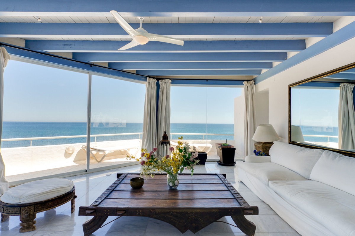 Spectacular penthouse on the beach front with incredible panoramic views of the sea, beach and the c,Spain