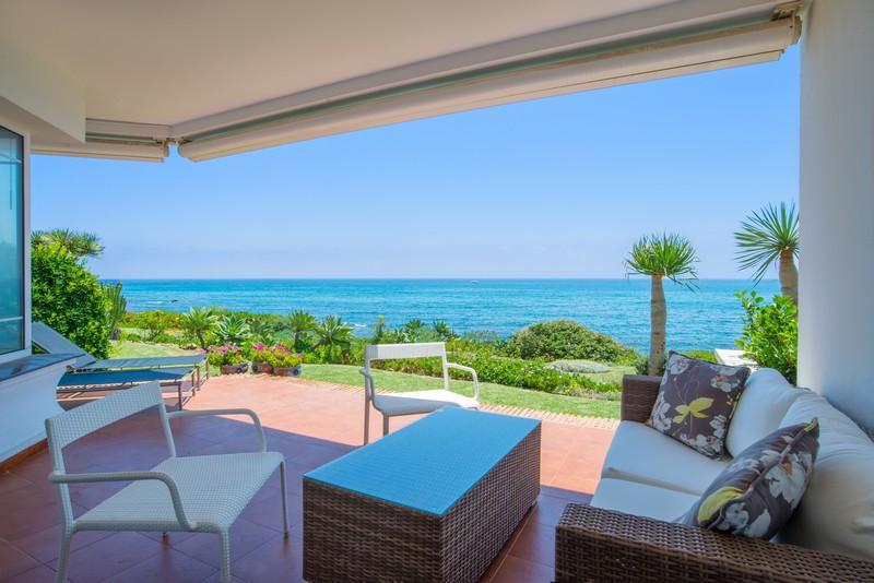 NEW ON THE MARKET  Luxury beachfront semi-detached house, featuring 2 swimming pools, mini tennis co, Spain