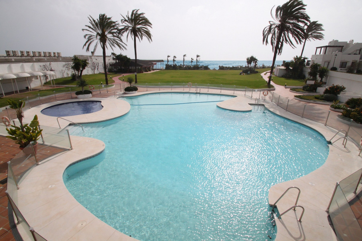 Two bedroom corner townhouse with sea views set in a beautiful beachfront complex, between Estepona ,Spain