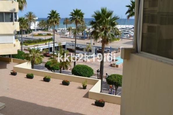 Alluring 40 sqm beach front studio right across the Puerto Deportivo in Marbella city centre.  Lumin, Spain