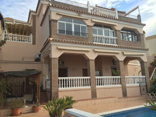 Excellent villa with stunning sea view in Benalmadena Costa. Situated in a quiet location with a pri,Spain