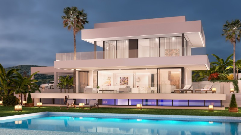 It is a new and contemporary complex of 5 villas. This villa for sale has 4 bedrooms and 5 bathrooms,Spain