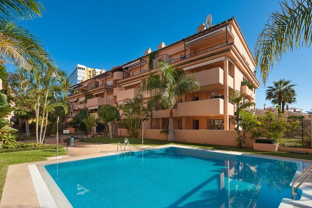 Fabulous 2 bedroom apartment situated beach side in a pretty urbanization of Las Chapas. Located onl,Spain