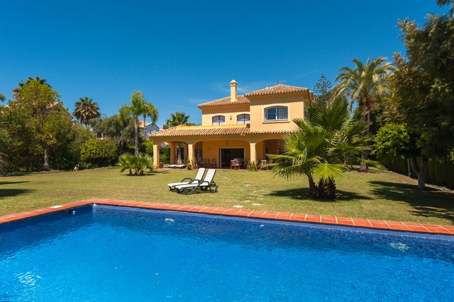 Fantastic villa located only metres walking from the fabulous local beach in the prestigious area of, Spain