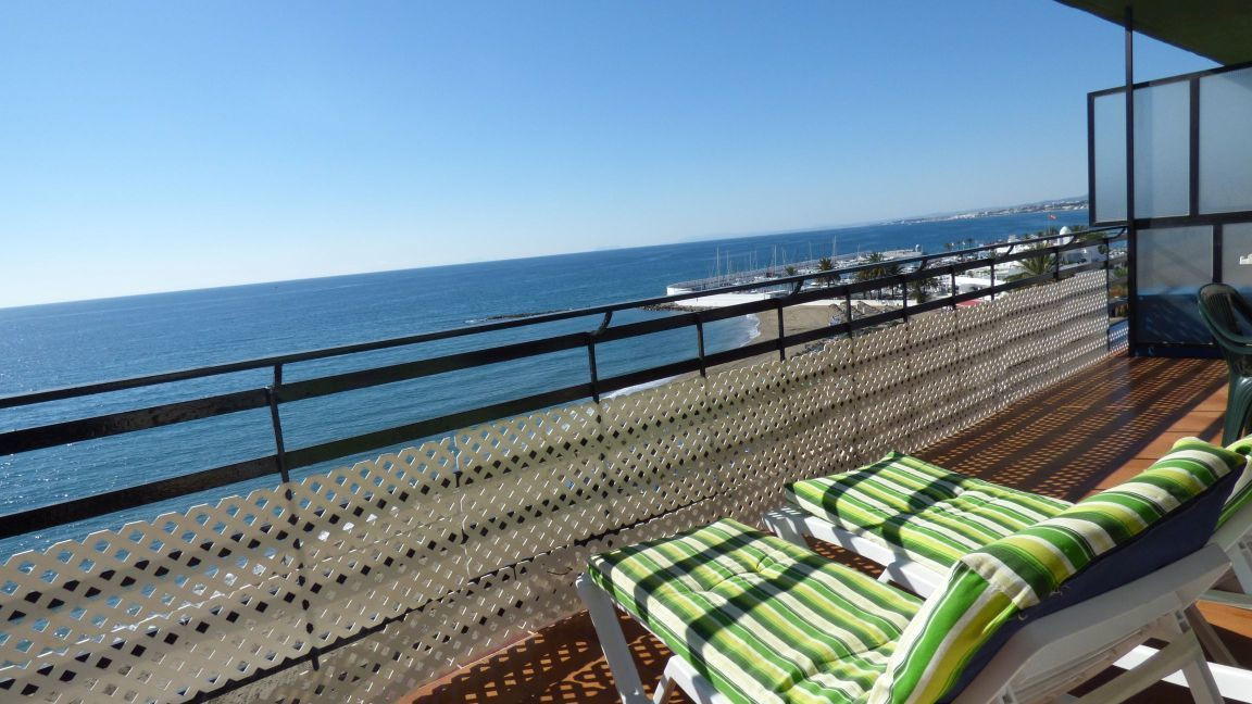 The property is situated beachfront on the fifh floor in the famous and beautiful city of Marbella, , Spain