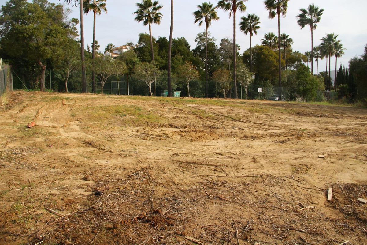 Splendid 1377 sq. m. south facing flat plot in a populated area of Sotogrande Alto.  Construction is,Spain