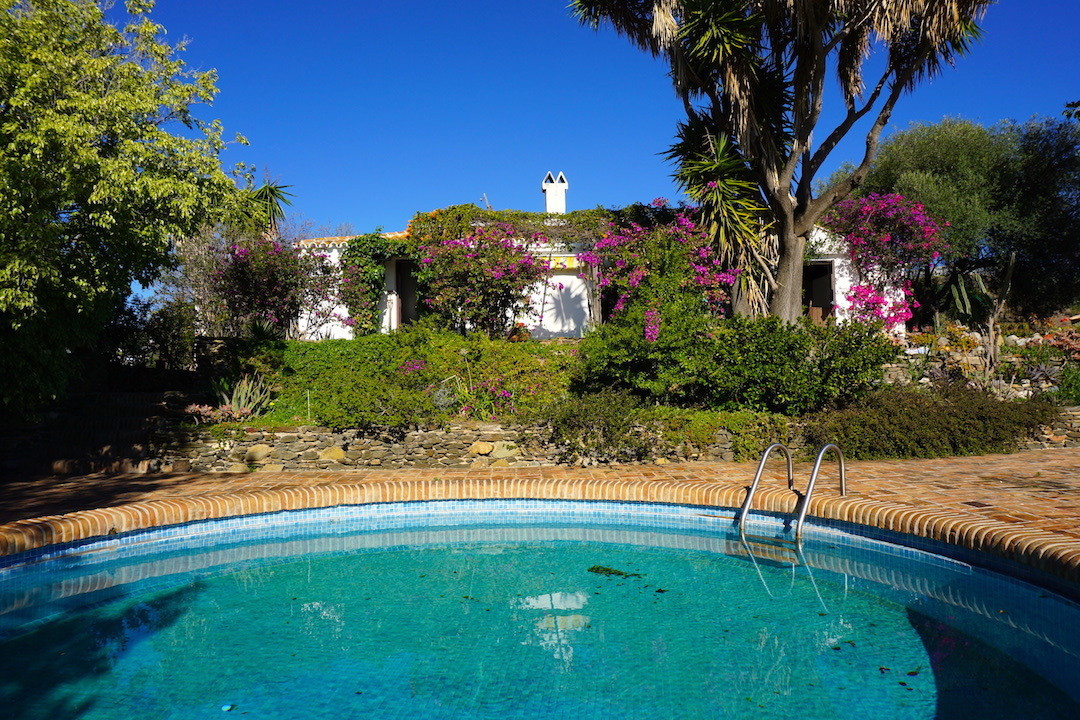 This romantic charming Andalusian style finca is located in Almayate Bajo, a lovely town in a fantas,Spain