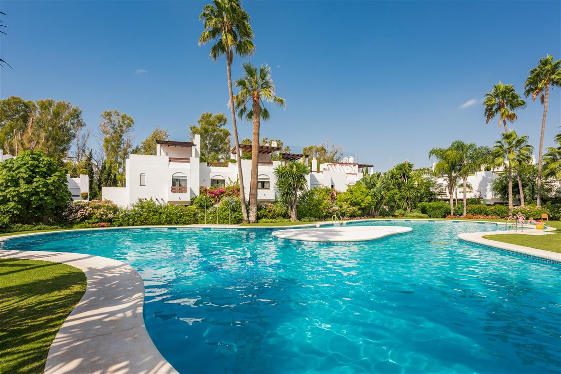 Boasting one of the most desirable Marbella West locations, this fabulous south facing townhouse has,Spain