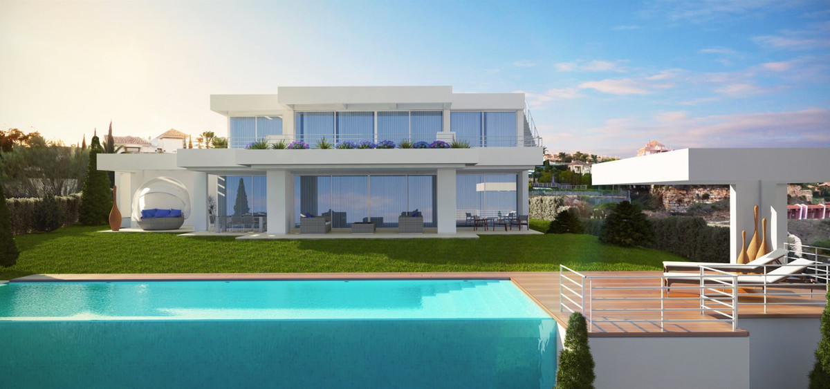 Modern villa in construction, the main entrance has a porch with a large living room and kitchen wit,Spain