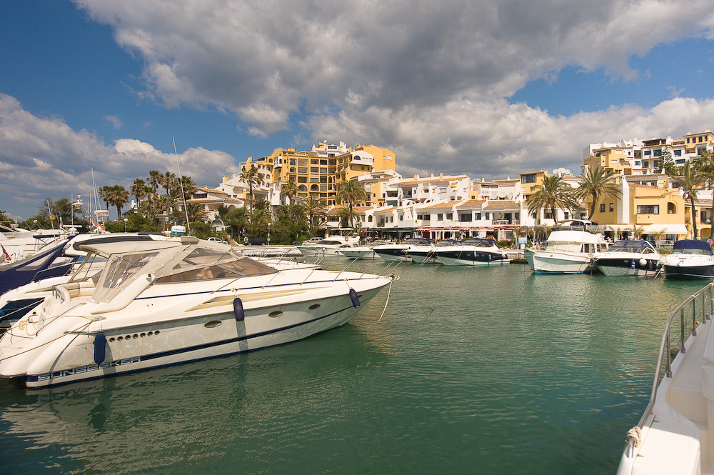Front line Port.  Located in the busy Puerto Cabopino with stunning views and resides alongside and ,Spain