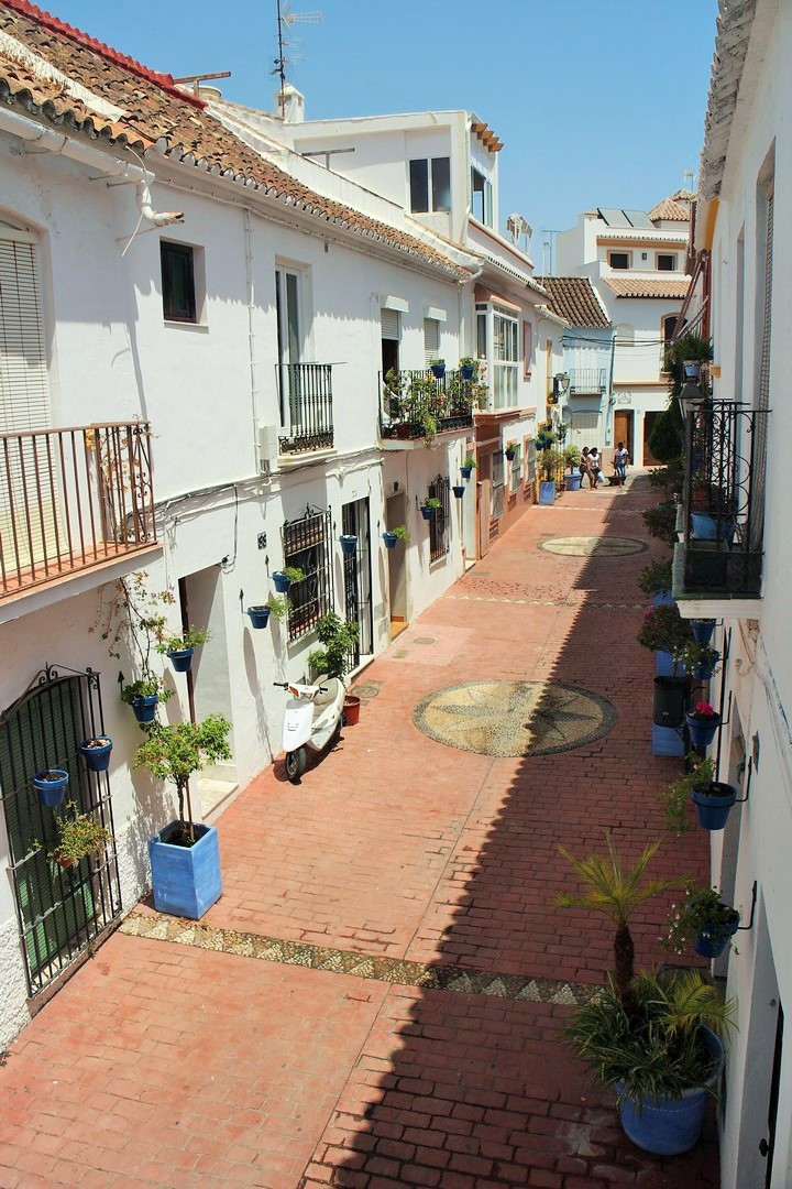 RIGHT IN THE HEART OF TRADITIONAL OLD TOWN ESTEPONA on a quiet typical Andalucian street only 200 me, Spain