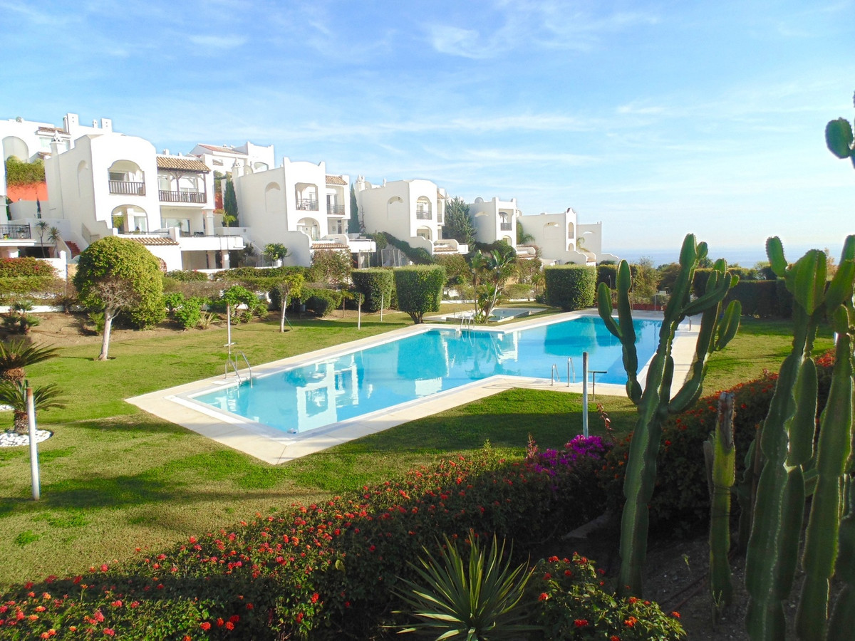 Spacious raised garden apartment with large terrace enjoying spectacular sea views in the Torremuell, Spain