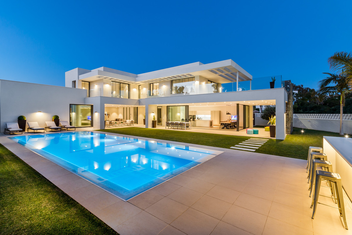 Newly built luxury modern villa on the beach near Puerto Banus  An exceptional contemporary property, Spain