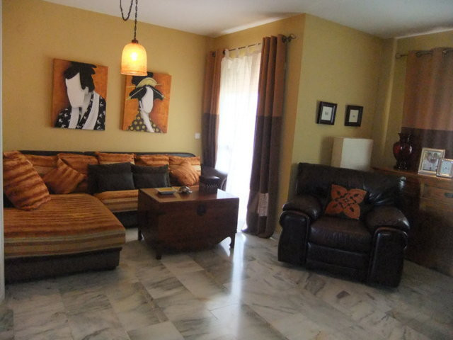 Spacious and bright corner apartment with sea, mountain and common areas. Living room with fireplace,Spain