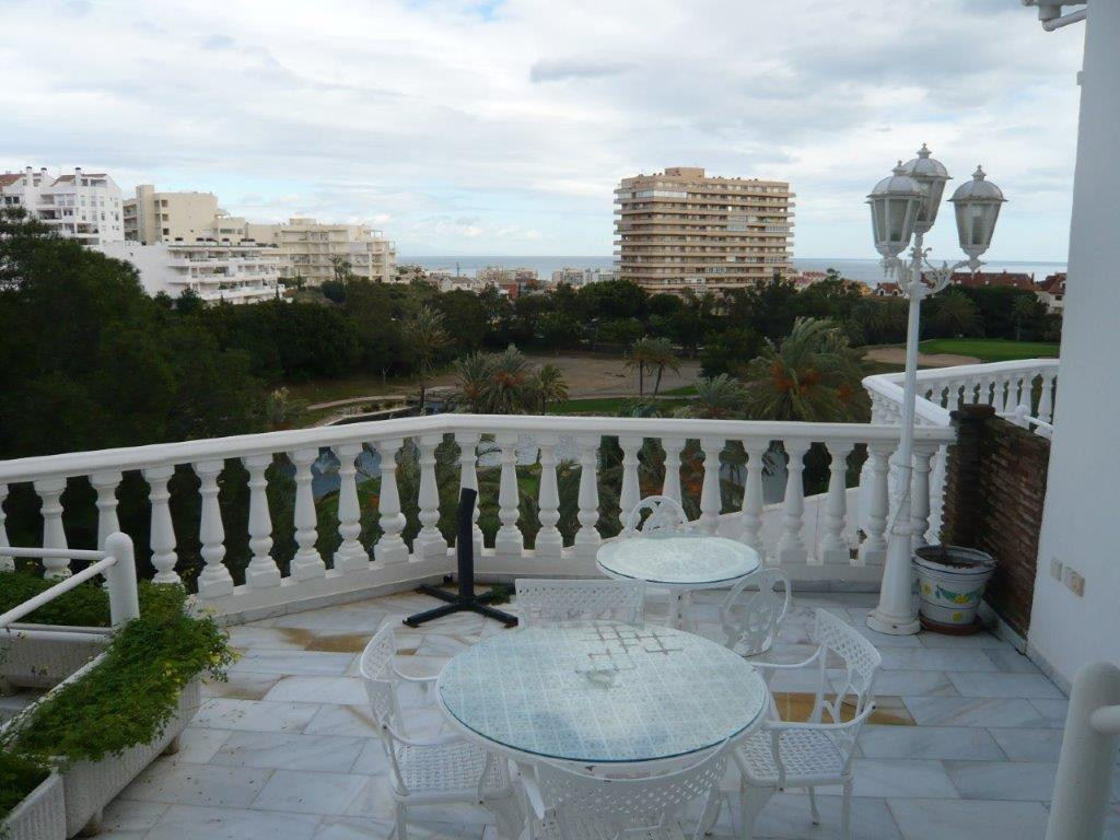 Front line golf townhouse with panoramic golf and sea views!   Located next to Torrequebrada Golf an, Spain