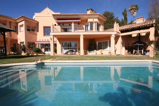 Large detached villa on good sized plot, landscaped mature gardens with fruit trees, swimming pool, , Spain