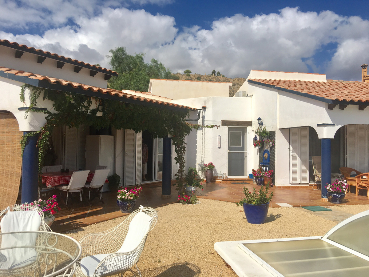 Attractive single storey villa with covered pool in Muchamiel.  This villa is situated in the middle,Spain