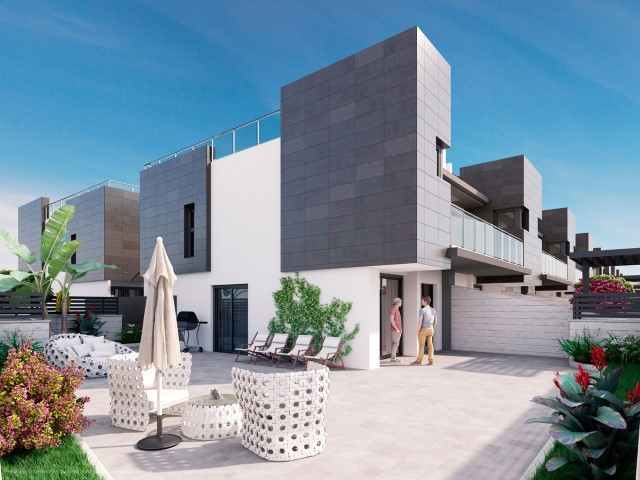 Townhouse for sale in Costa Blanca.  This is a new development of 3 bed, 3 bath townhouses each with,Spain