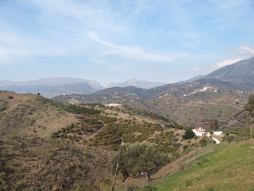 Nice country villa with breathtaking views to the surrounding mountains, fire place, furnished, SAT-,Spain