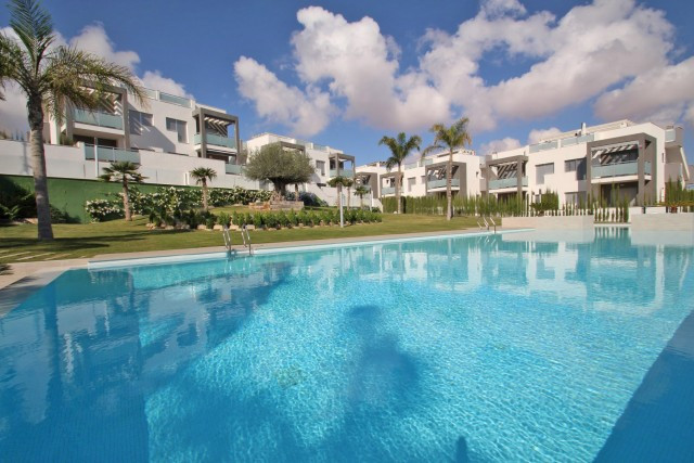 Beautiful gated residential complex in Torrevieja with gardens, heated swimming pool for the cooler ,Spain