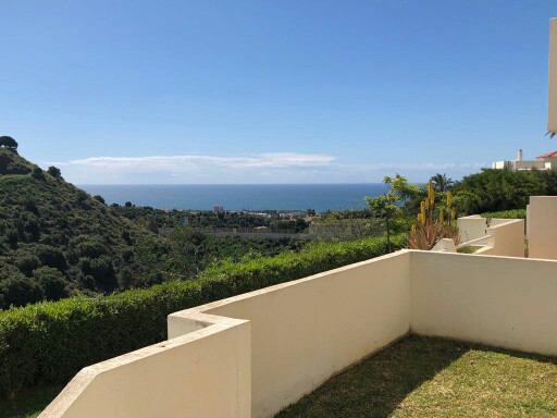 This is a great elevated ground floor apartment with a larger than average terrace with good sea andSpain