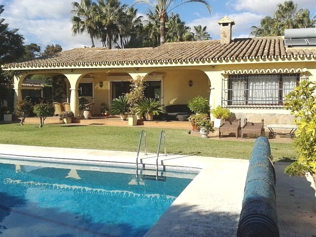A charming Andalucian style single storey villa, welcoming, serene and very private in Atalaya beach,Spain