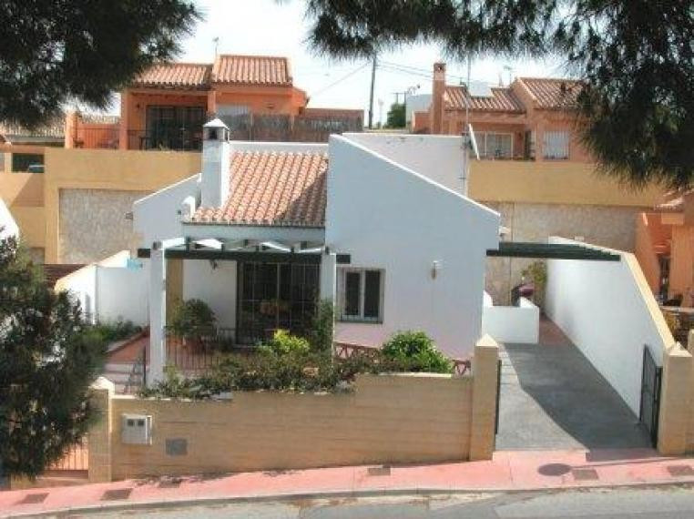 Modern villa in El Faro for sale. On the main floor it consists of two bedrooms, bathroom, a fully f,Spain