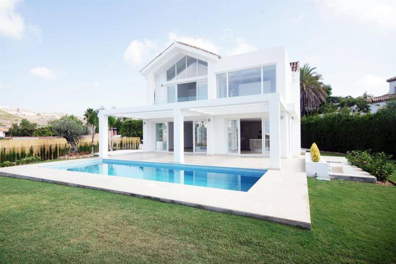 This new luxury villa is situated in a prime location with sweeping panoramic views both of sea and ,Spain