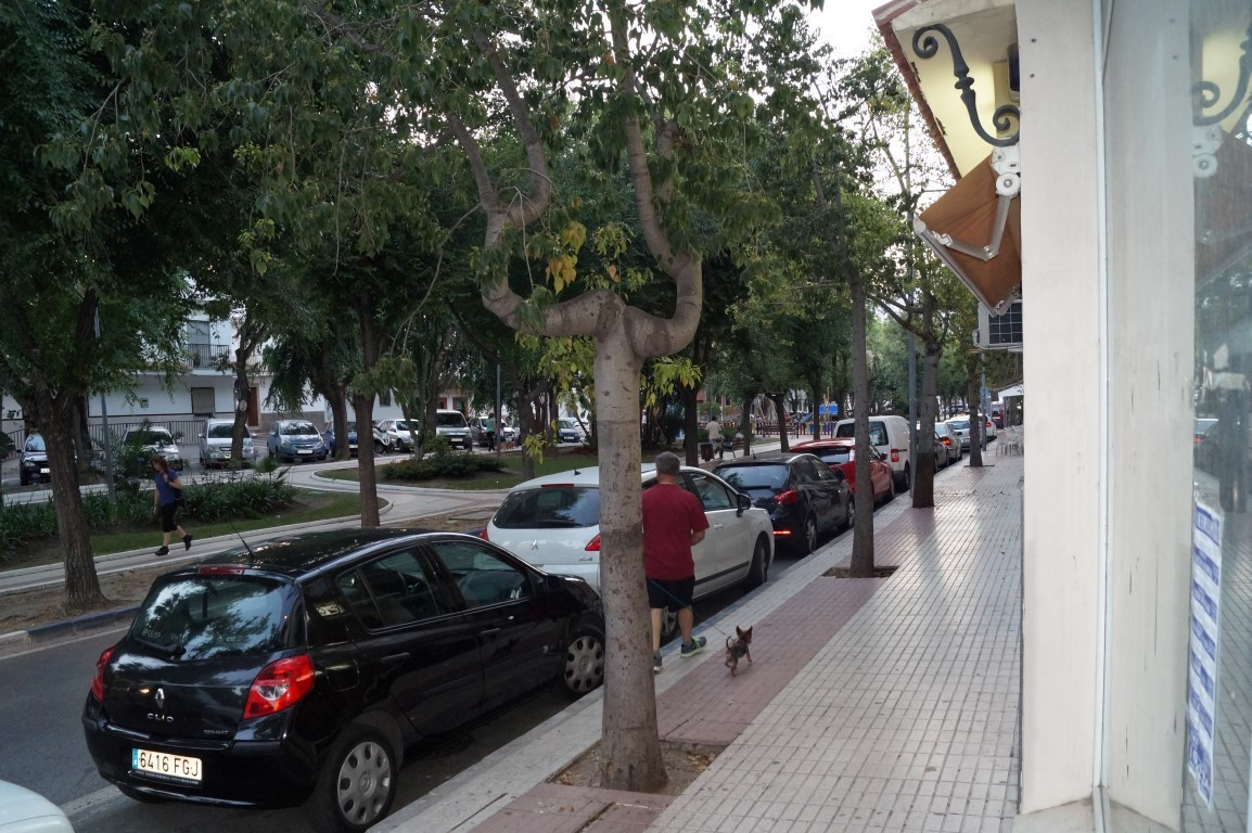 A commercial property located on a busy street in San Pedro. Plenty of people pass by on foot on a d,Spain