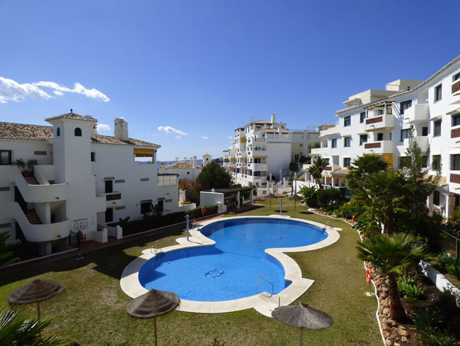 In Benalmadena Costa, pretty Andalusian style residence, two bedroom apartment for sale with terrace,Spain
