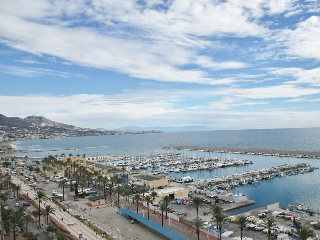 Modern beachfront apartment in city center next to the port in Fuengirola,walking distance the beach, Spain