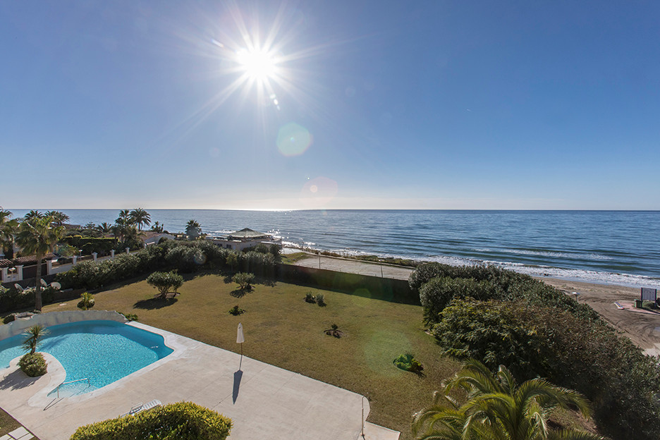 Beachfront Penthouse in Club del Agua in Elviria, East Marbella, with stunning sea views and south a,Spain